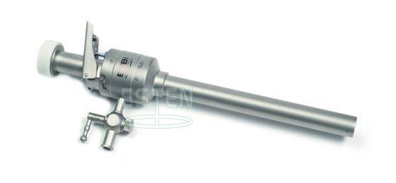 Троакар универсальный с форточным клапаном 10 мм, краном газоподачи (с ручным управлением)