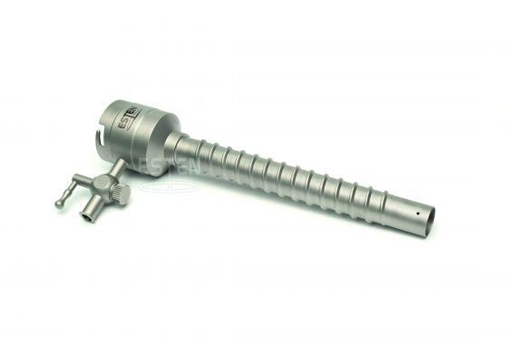 Троакар универсальный с силиконовым клапаном 10 мм, краном газоподачи (и винтовой фиксацией)