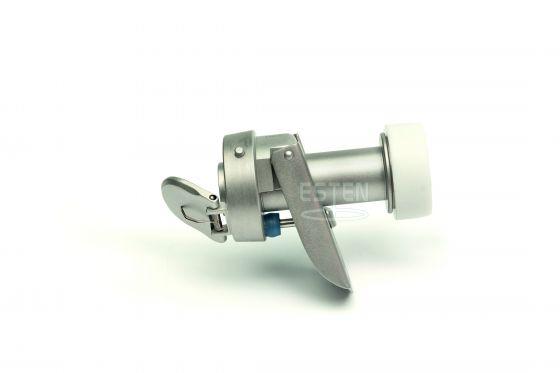 Троакар универсальный с форточным клапаном 10 мм, краном газоподачи, и винтовой фиксацией (с ручным управлением)