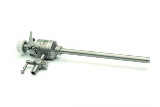 Троакар универсальный с форточным клапаном 5 мм, краном газоподачи (с ручным управлением)