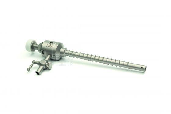 Троакар универсальный с форточным клапаном 5 мм, краном газоподачи, и винтовой фиксацией